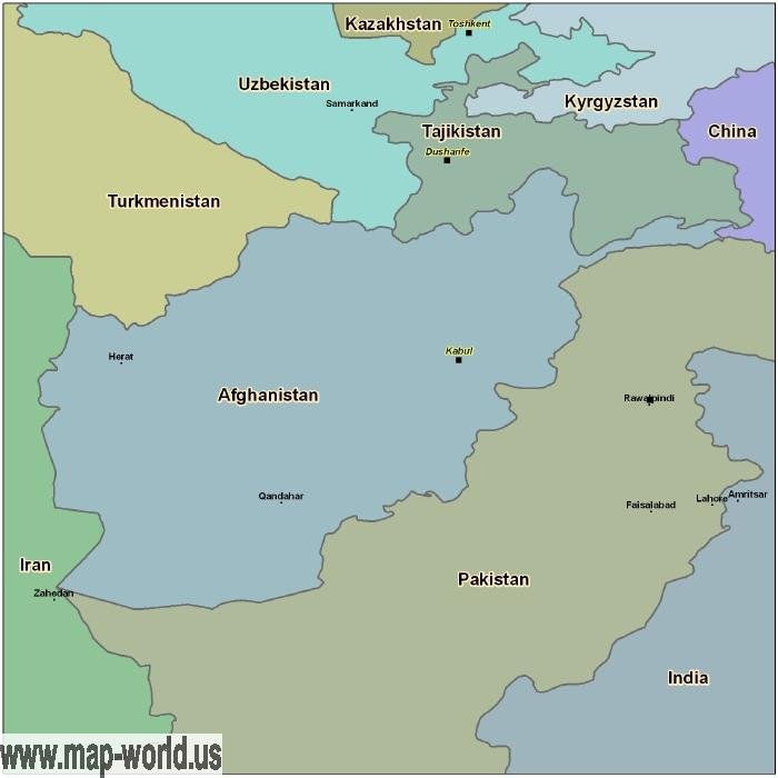 Map of afghanistan afghanistan map world map map of afghanistan gumiabroncs Image collections