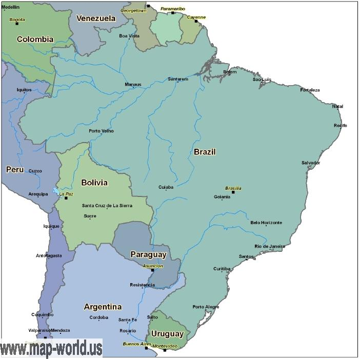 Map of brazil brazil map world map map of brazil brazil map gumiabroncs Image collections