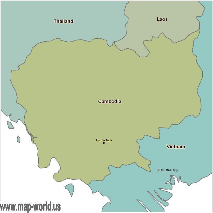 Map of Cambodia Cambodia Map World Map