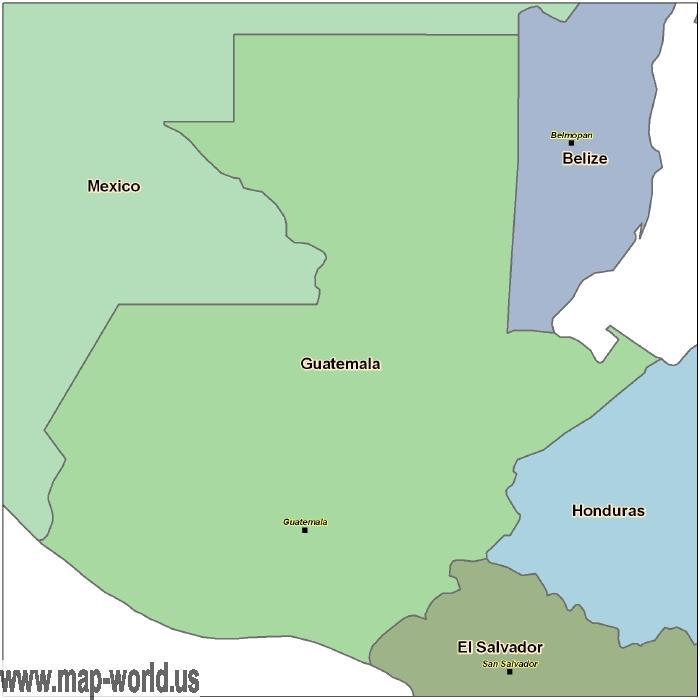 Map of Guatemala - Guatemala Map | World Map