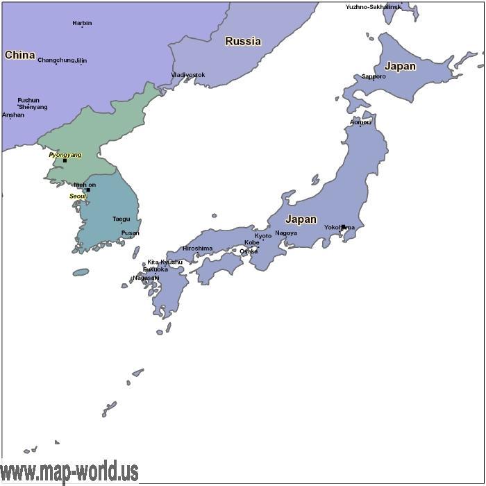 Map of Japan Japan Map World Map