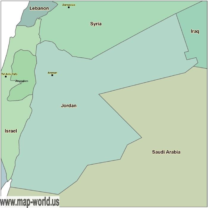 Map of Jordan - Jordan Map | World Map
