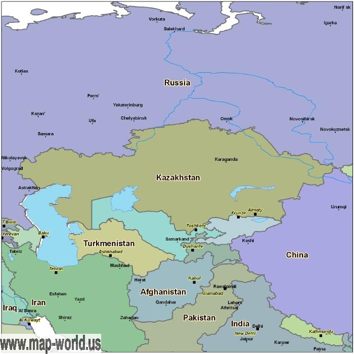 Map of Kazakhstan Kazakhstan Map World Map