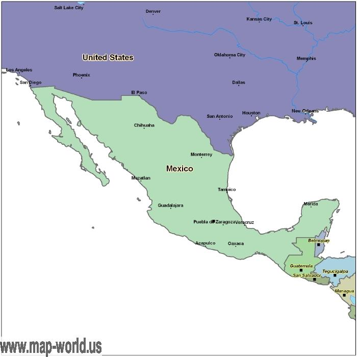 Map of mexico mexico map world map map of mexico mexico map gumiabroncs Images
