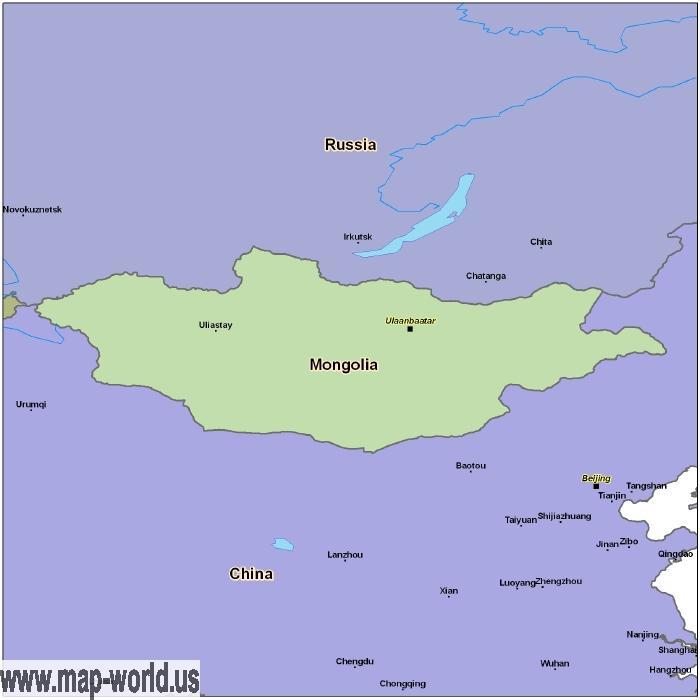Map of mongolia mongolia map world map map of mongolia mongolia map gumiabroncs Images