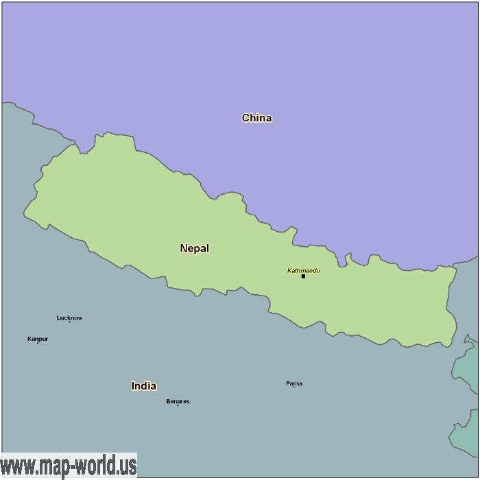 Map of Nepal Nepal Map World Map