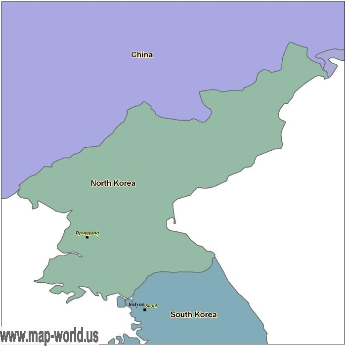 Map of north korea north korea map world map map of north korea north korea map gumiabroncs Image collections