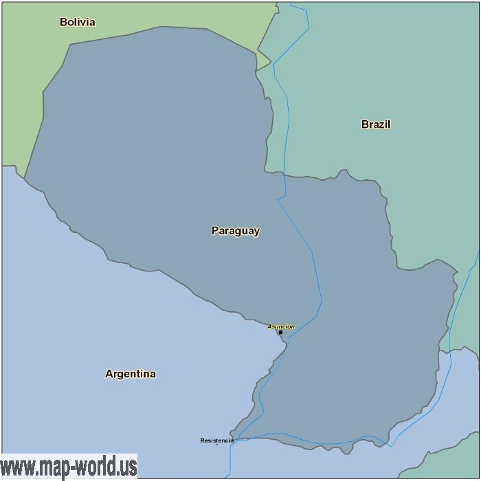 Map Of Paraguay Paraguay Map World Map - Map of paraguay world
