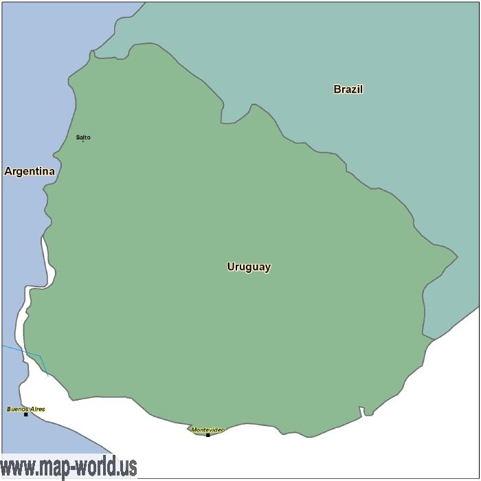 Map of uruguay uruguay map world map map of uruguay uruguay map gumiabroncs Image collections