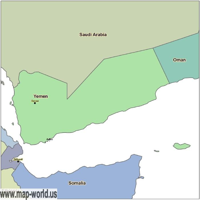 Map of yemen yemen map world map map of yemen yemen map gumiabroncs Choice Image